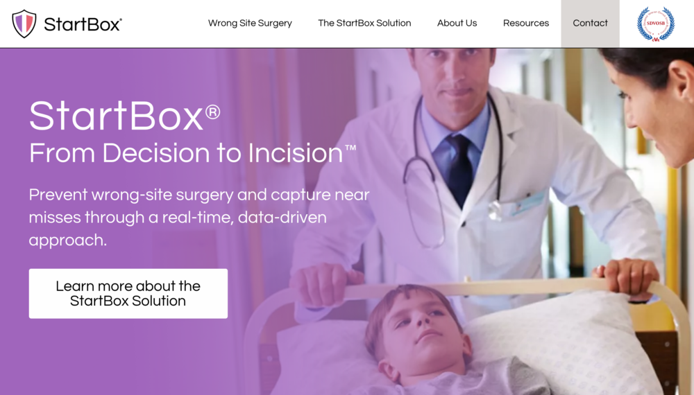 """Startbox is a revolutionary medical service that uses digital technology to prevent wrong-site, wrong-procedure, and wrong-patient errors (WSPEs) - a tragedy that occurs in 1 of 112,000 surgical procedures in the US every year.  Thirty Birds built a custom ID card scanner for the Startbox iOS application designed to precisely read nine versions of US Driver's License barcodes in under one second and ensure the identity of every patient prior to surgery. We also worked in partnership with Georgia Tech to develop a new Startbox product aimed at reducing infection rates in hospitals. Our marketing team created materials, ranging from a print media campaign to a promotional video, for their launch."""""""
