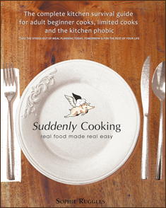 No knife skills, can´t boil an egg, never cooked a thing in your life – no worries, help is in your hands!Leaving the family home, getting married, becoming a new parent, looking after a sick spouse, finding yourself suddenly single; these are just a few life scenarios that will often require a crash course in cooking.Inside this book you will discover all the information you need to kick start your kitchen and make all your favourite meals regardless of your level of experience. Of the 120 easy to prepare recipes on offer, over two thirds can be made and on the table in under 30 minutes.Each recipe indicates whether it is vegetarian or gluten free and there are dozens of leftover makeover ideas to help you make the most of every meal.Make your kitchen cooking friendly and stock up on essential equipment and utensils, take the sting out cooking and throw out those band-aids and antiseptic cream by learning how to chop using the fully illustrated tutorials in chapter one. And if you can´t tell an eggplant from an aubergine then the pictorial food dictionary can help you identify all the ingredients used in these recipes and many more.Putting food on the table day after day no longer need be a chore. You can learn to cook great food without stress – even if you don´t know it yet. - CASERA PUBLICATIONS 2010