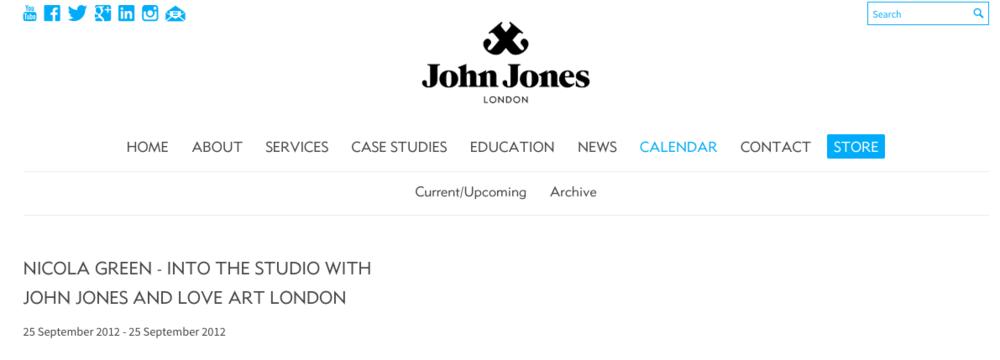 John Jones - Nicola Green - Into the Studio with John JOnes and Love art London18 January 2012