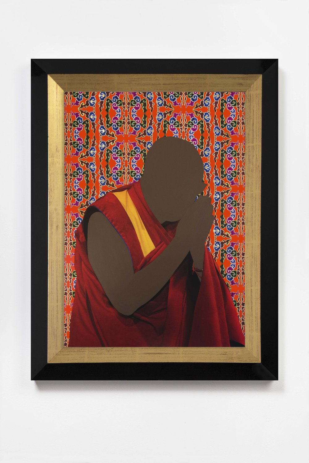 Encounter, Saffron  2018 © Nicola Green  Painting, on giclée with hand applied 24k gold leaf, 308gsm Hahnemuhle   H52 x W40 cm   £5,900 including frame and VAT   H64 x W47 cm   £8,500 including frame and VAT
