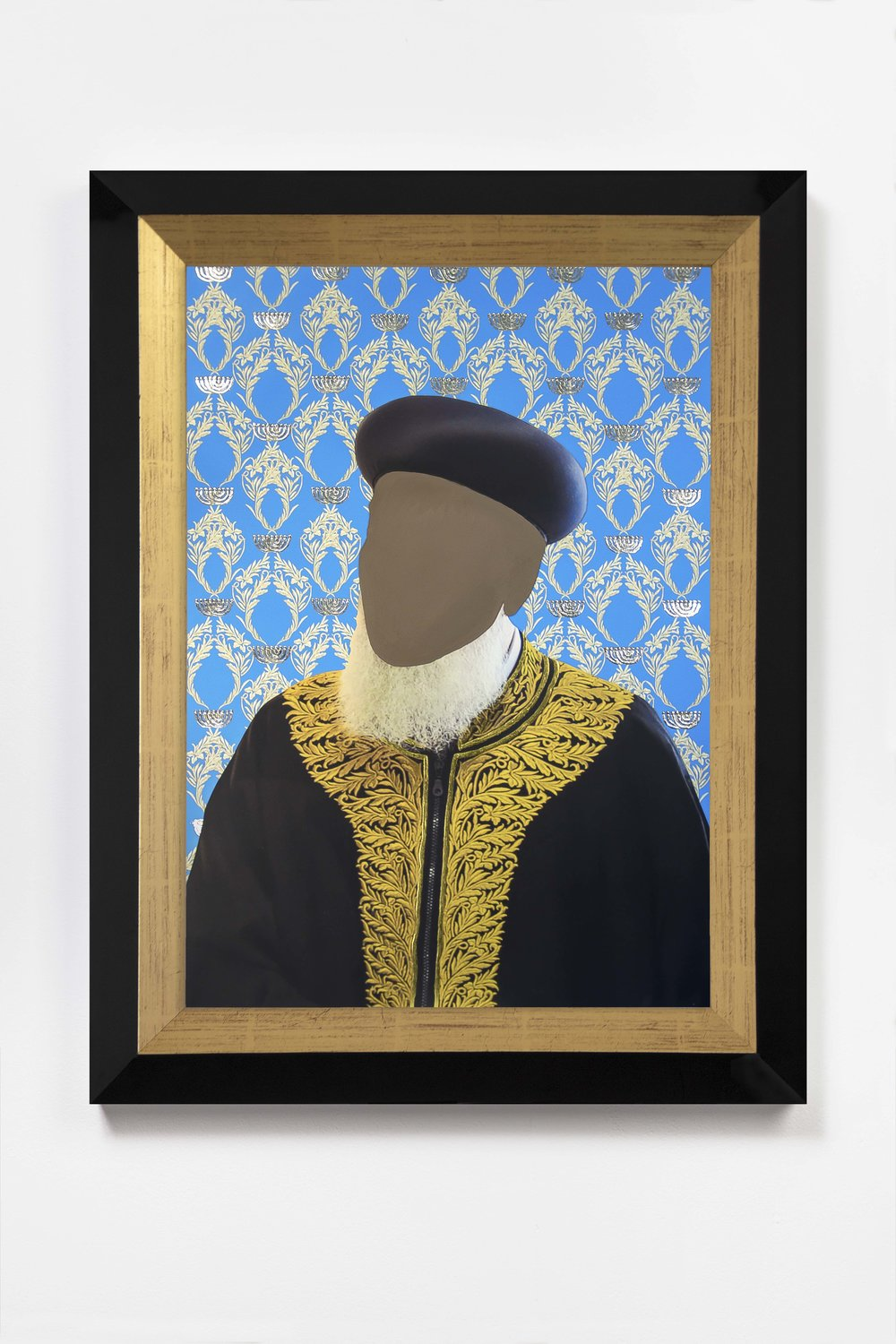 Encounter, Cerulean  2018 © Nicola Green  Painting, on giclée with hand applied 24k gold and silver leaf, 308gsm Hahnemuhle   H52 x W40 cm   £5,900 including frame and VAT   H64 x W47 cm   £8,500 including frame and VAT