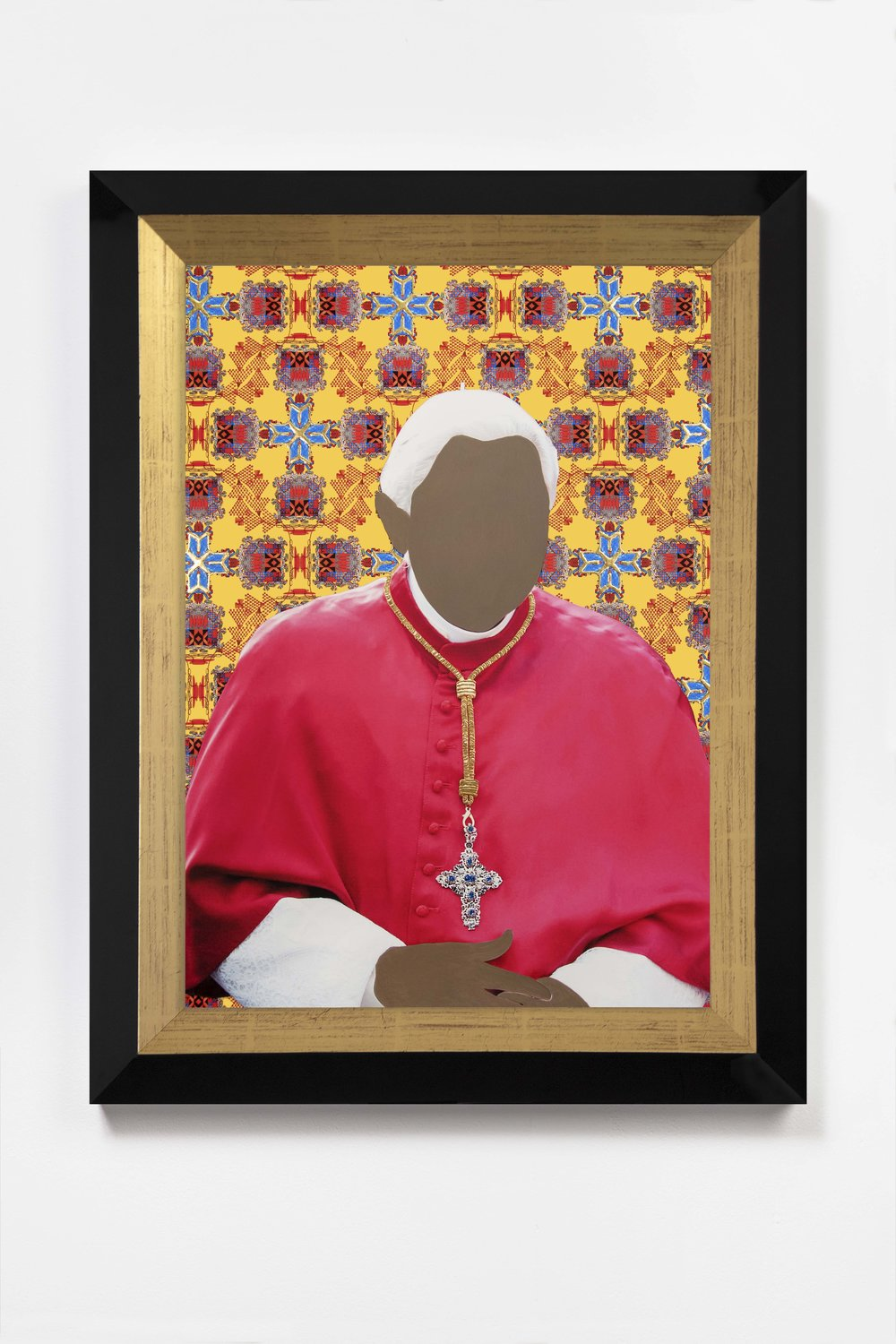 Encounter, Crimson  2018 © Nicola Green  Painting, on giclée with hand applied 24K gold and silver leaf diamond dust, 308gsm Hahnemuhle   H52 x W40 cm   £5,900 including frame and VAT   H64 x W47 cm   £8,500 including frame and VAT
