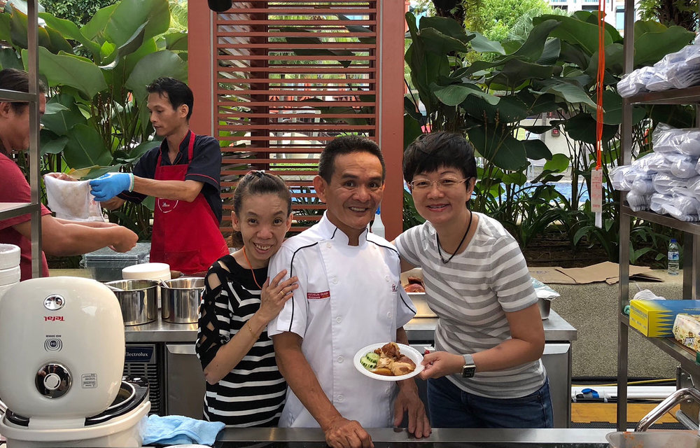 Jane with Chef Chang Hong Meng and his wife