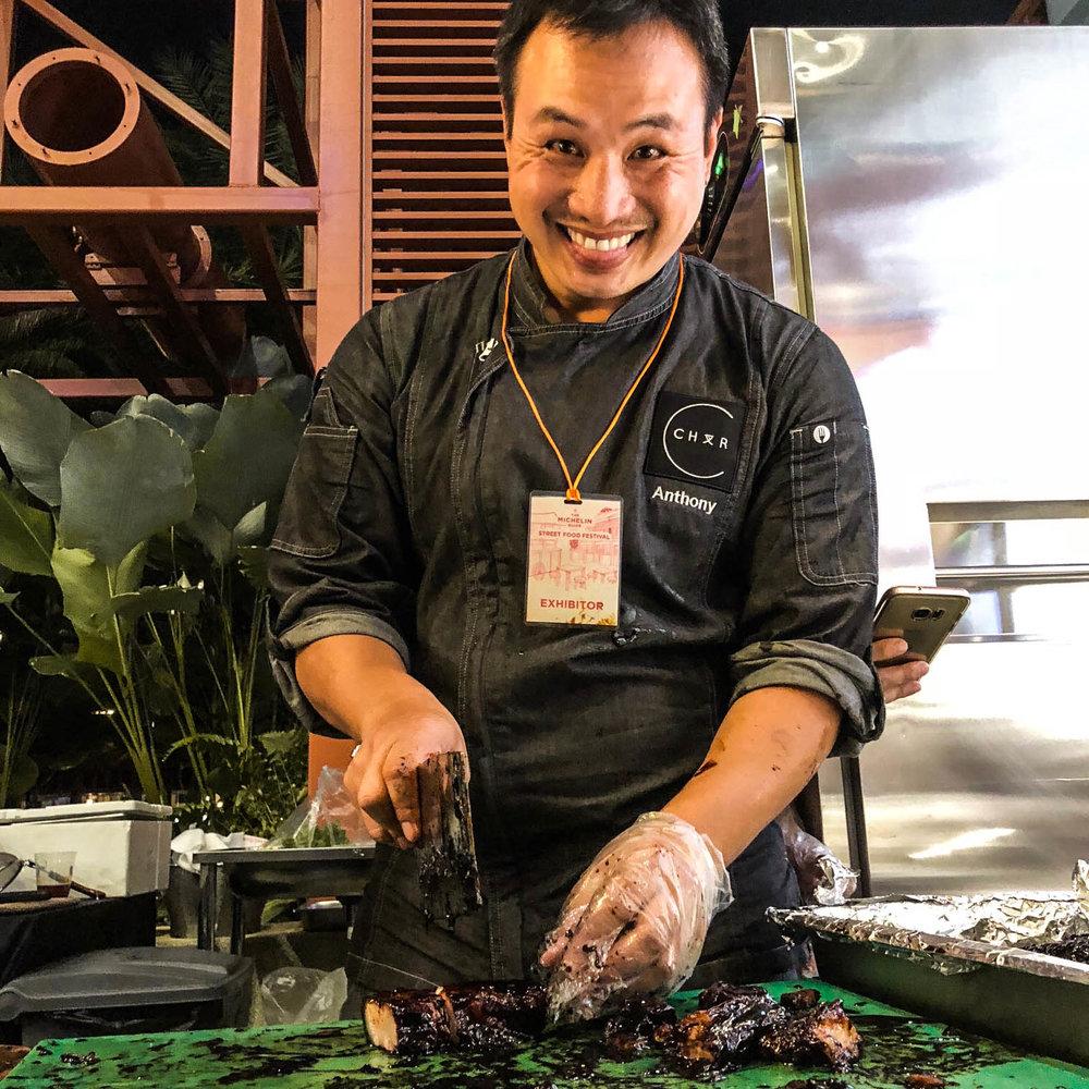 Chef Anthony with his Premium Kurobuta Char Siew