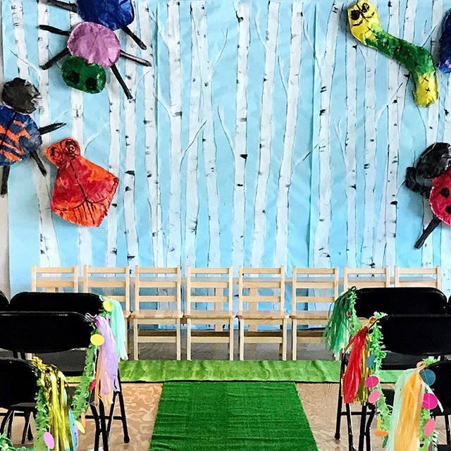 We had so much fun at preschool graduation! This is our beautiful birch tree backdrop! Little ones looked stunning in front with their white gowns! More photos to come :) . . . . . #preschoolteacher #preschoolgraduation #blue #photobackdrop #diy #graduation #graduationparty #artteacher #preschoolteacher #prek #prekteacher #brookfieldwi #brookfieldcenterforthearts