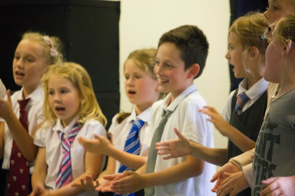 a fun-packed, week long workshop where the children will be singing, dancing and acting. - The workshop will work towards a performance on the Friday for friends and family with full costumes, set and live music.