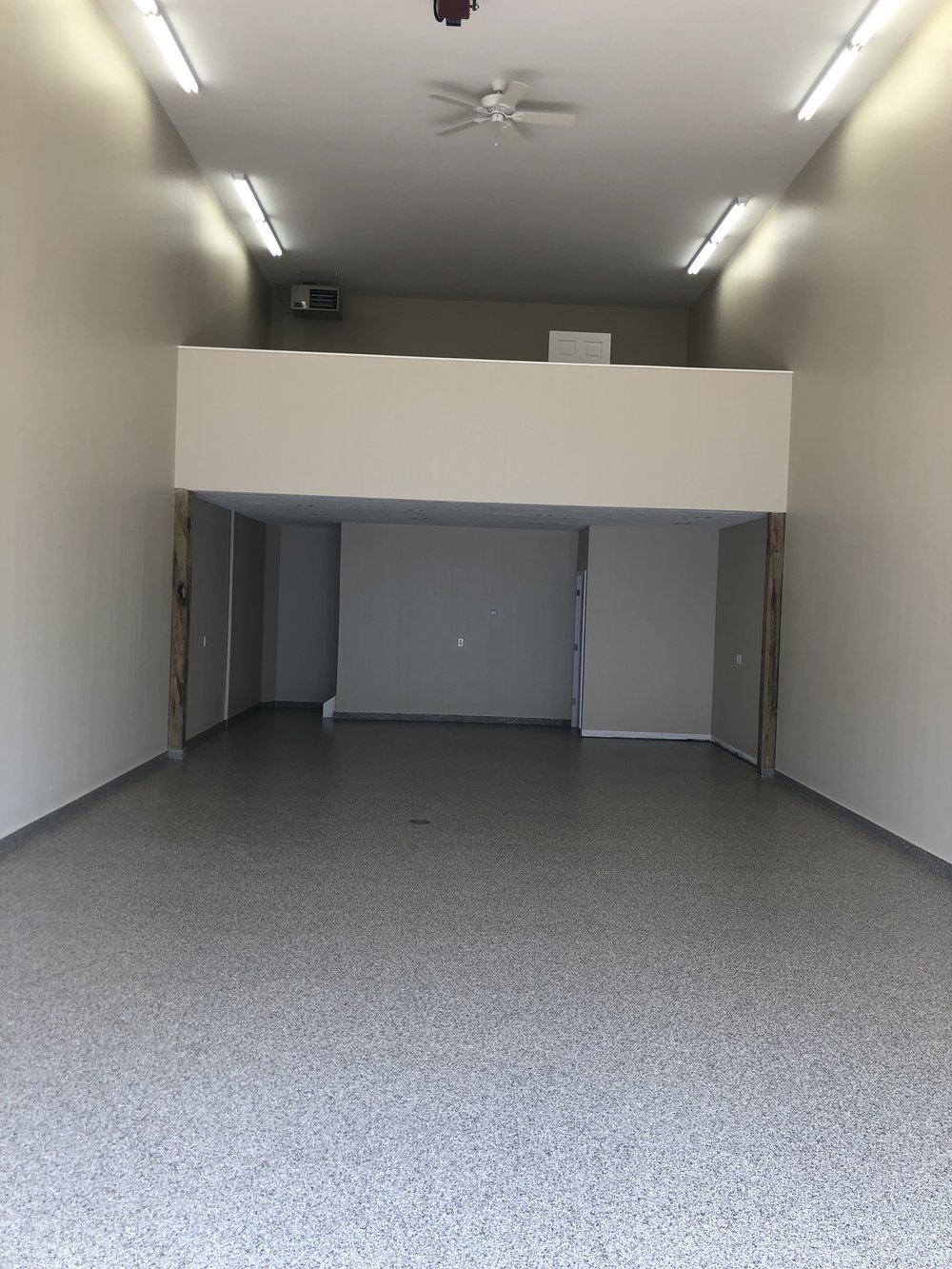 Optional features - Epoxy floors and lofts