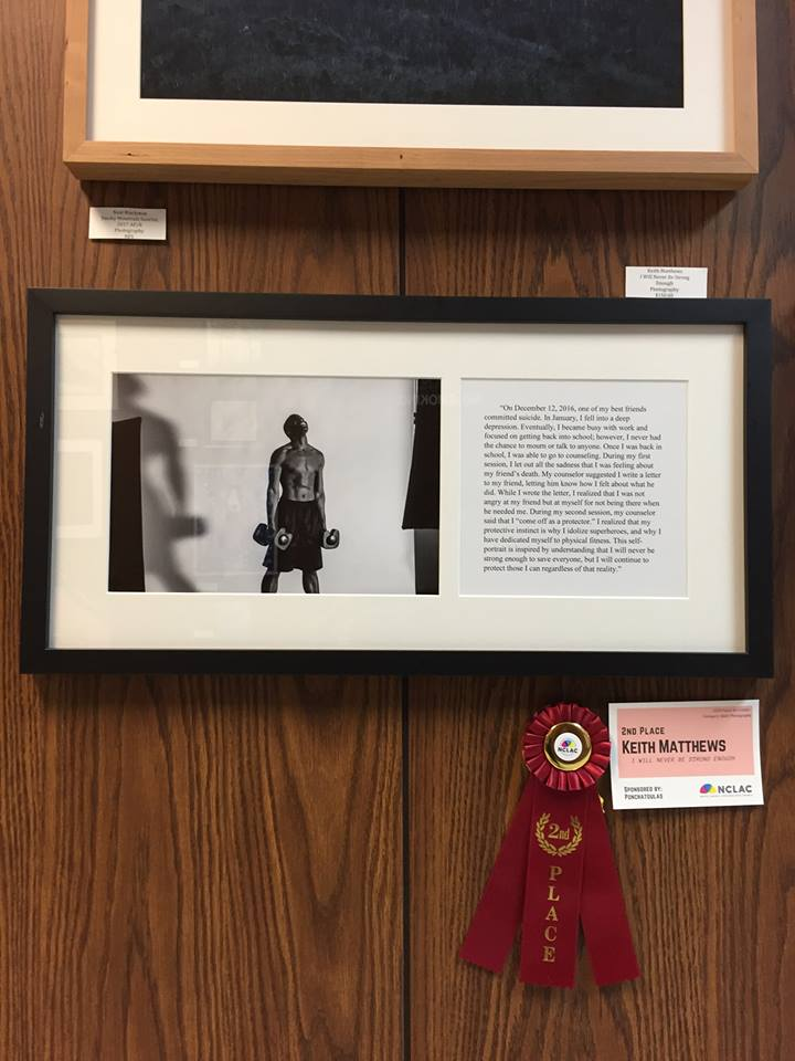 """""""I Will Never Be Strong Enough"""" placed 2nd in the 2018 Peach Art Exhibition"""