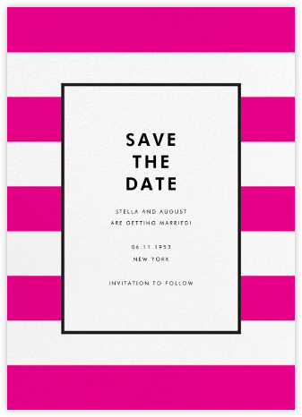 Check out this cute Kate Spade designed Save the Date on Paperless Post! Again, the colors can be changed to match your colors.