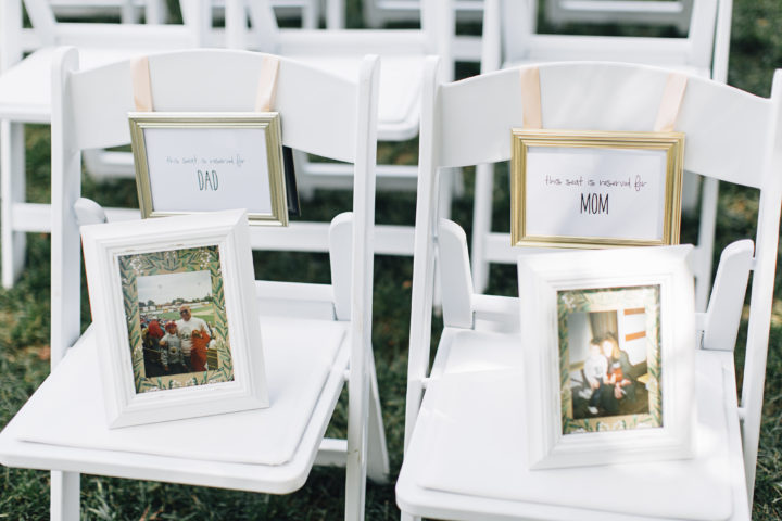 Love this tribute to the parents. We saw this at several weddings where either the bride or groom lost their parents.