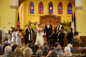 Beth and Cri decided to have their wedding ceremony at the church she attended growing up.