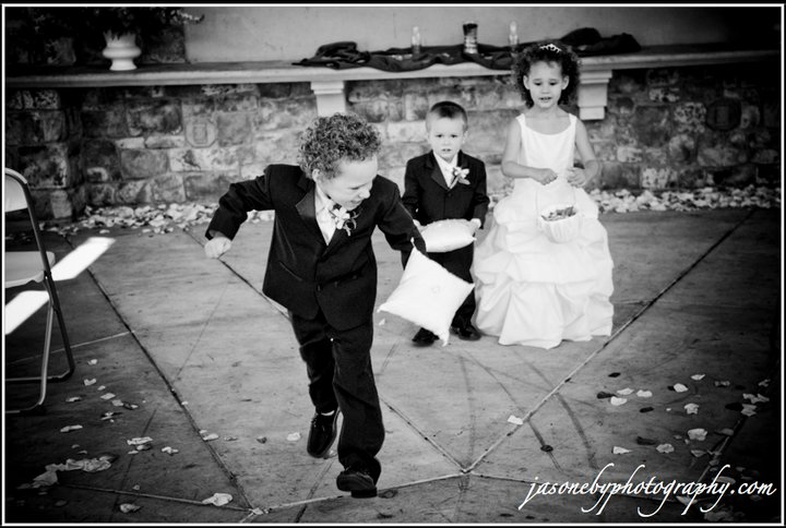 Look how adorable the flower girl and ring bearers are!