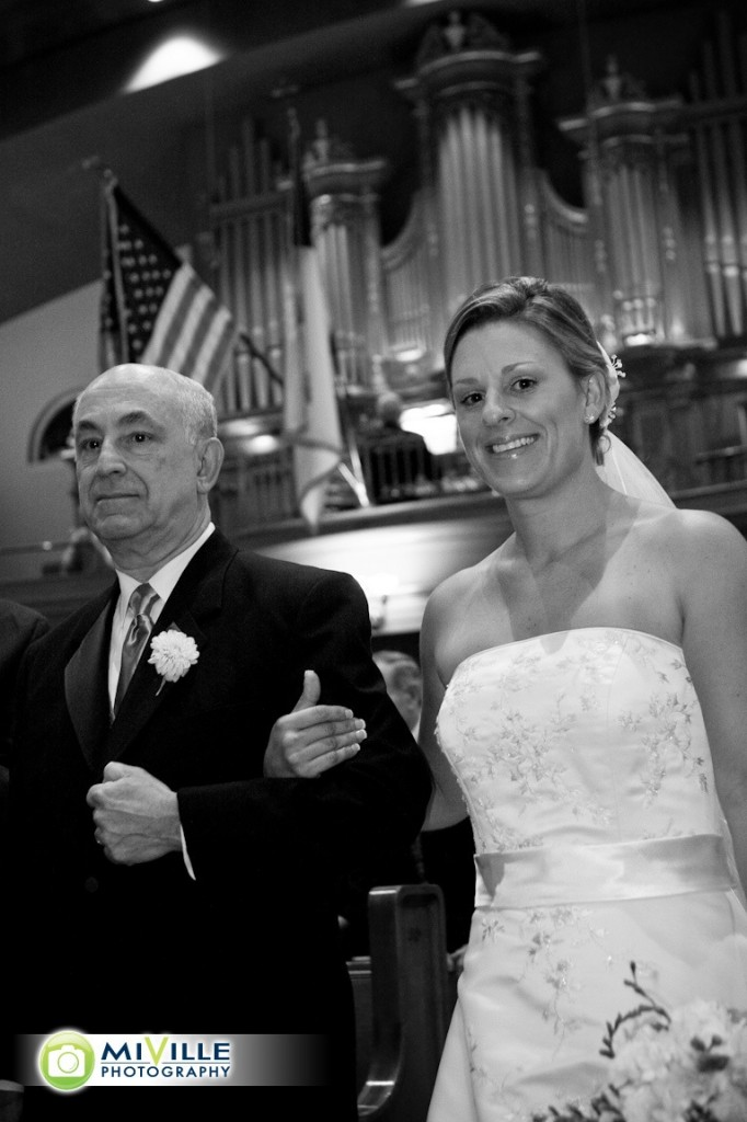 The bride and her proud father
