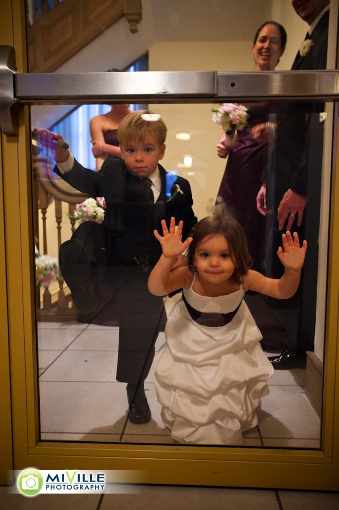 The flower girl and ring bearer were adorable!