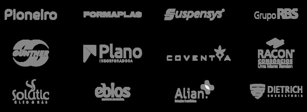 Alguns dos principais clientes que já tive a oportunidade de atender, seja na criação das marcas, quanto no desenvolvimento de projetos de design gráfico.