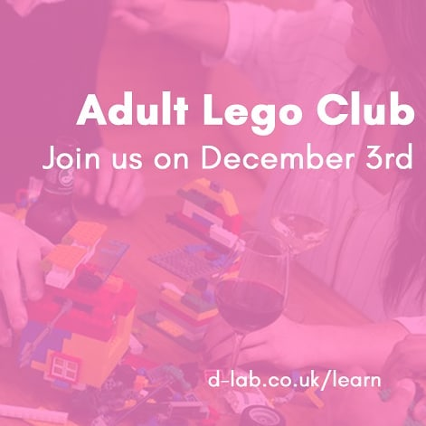 Unwind with an evening of Lego creativity and wine at our Adult Lego Club! Ages 18 to 99 . Book now - www.d-lab.co.uk/learn . #berkhamsted #berko #workmakelearn #dlab #lego #adultlego #mindfulness #creativity #creativeworkshop #legoclub #adultclub #hobbies #brickclub