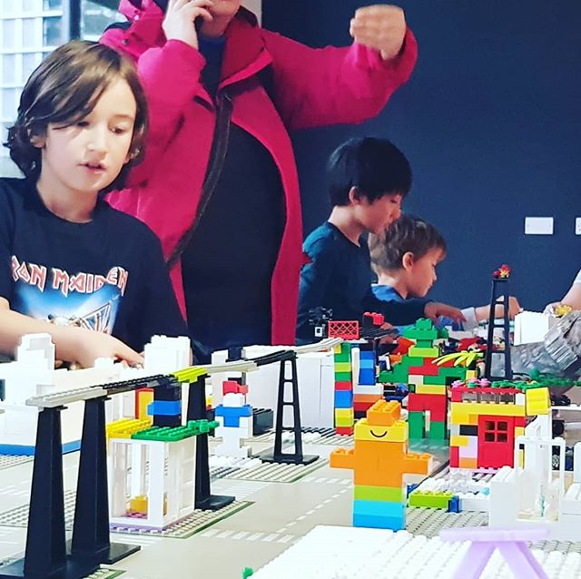 #tbt to our big lego masterplan build in London a few weeks ago featuring trams, hotels, and affordable housing. . . #architecturemodel #architects #youngarchitects #creativity #legoclub #lego