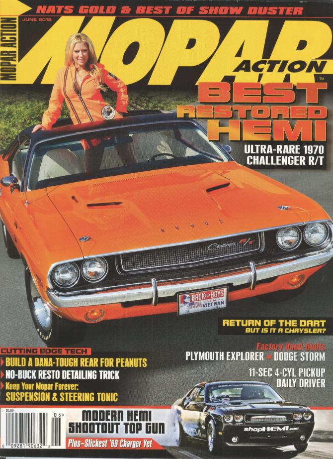 Mopar Action Cover Car June 2012 1970 Challenger R/T
