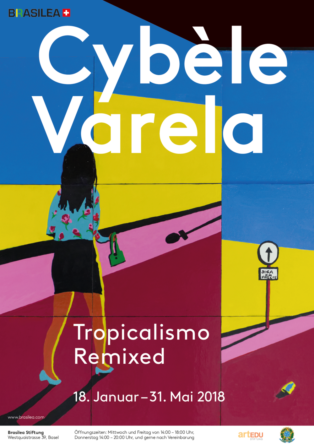 Exhibition Poster by Simone Züger. Cybèle Varela,  Siga em frente , industrial paint on wood, 2016 © Cybèle Varela 2017
