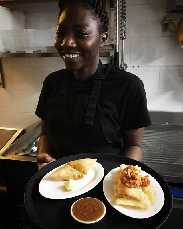 @beatrice_akrasi our chief dishwasher, moving on up to commis de cuisine! her passion for cooking is rivaled only by her passion for eating. Keep on cooking Queen B!