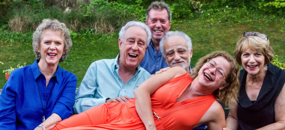 """Says You!"" Cast, L to R, Paula Lyons, Arnie Reisman, Barry Nolan, Tony Kahn, Carolyn Faye Fox, Francine Achbar"
