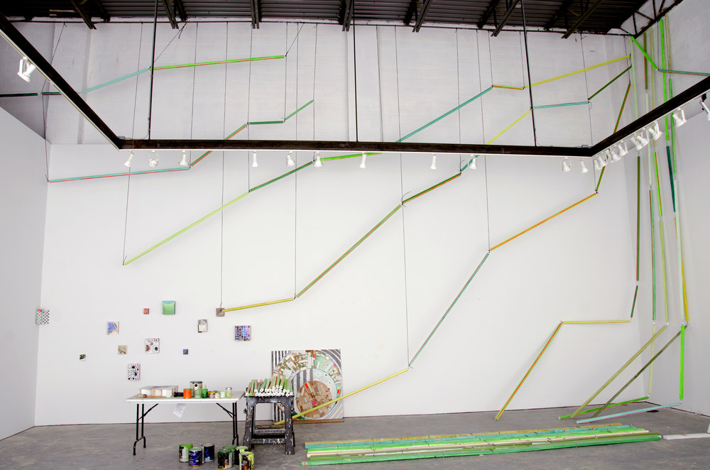 CR17-35_Cordy Ryman-Lightning Vine-2017-acrylic, enamel, metal hardware, wood-installation.jpg