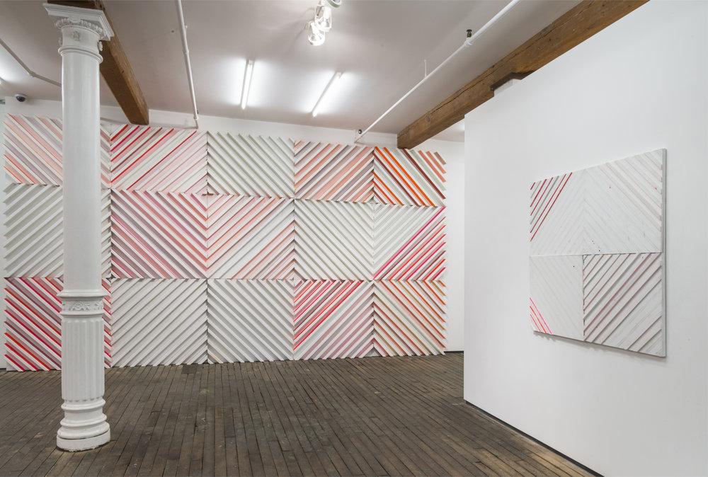 Installation view,  Cordy Ryman:   Chimera 45 , Zürcher Gallery, New York, 2015