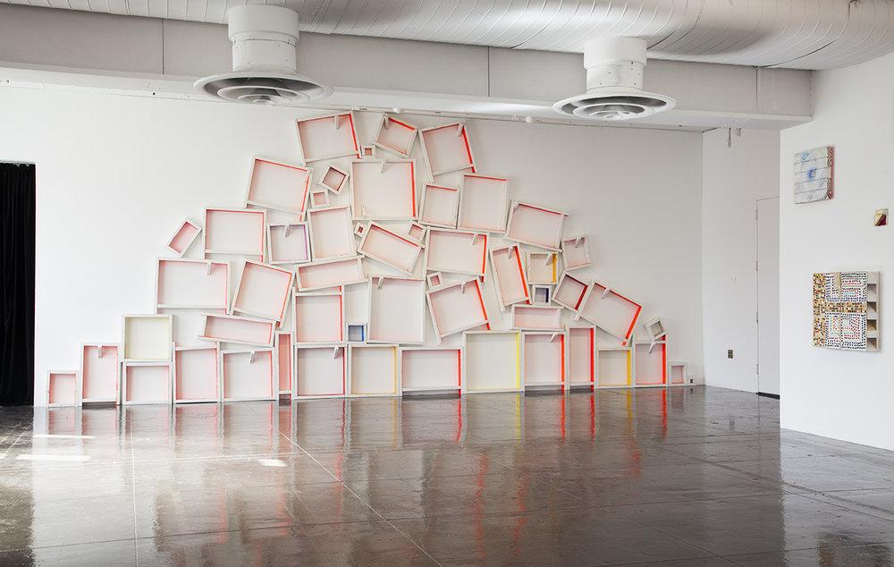 Installation view,  Cordy Ryman: Lorem Ipsum ,Artpace, San Antonio, Texas, 2016