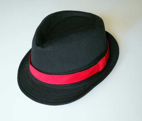 f666248cfaf8 Black Fedora with red band - Toddler and Boys 2 weeks before shipping