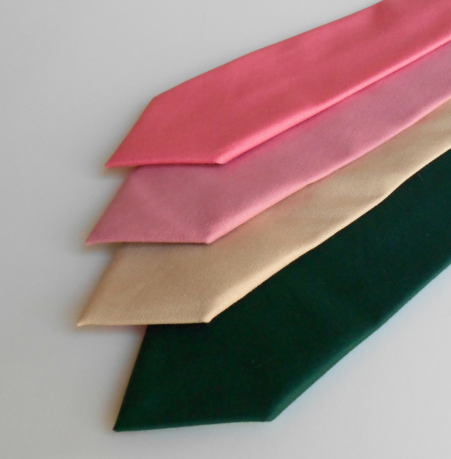 Necktie - Coral, Blush, Nude, or Forest - Men's, Teen, Youth - Wedding
