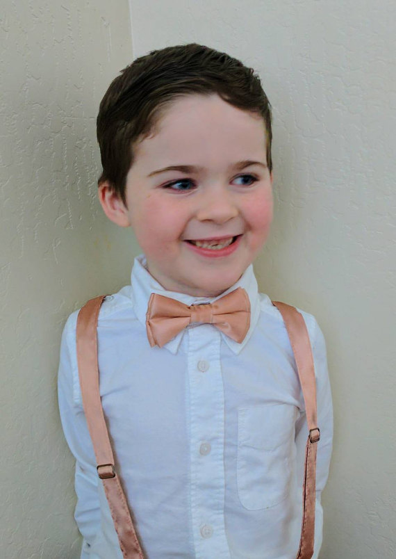1214624d8 Rose gold bow tie