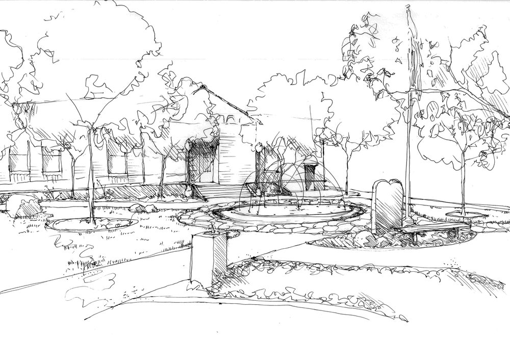 Fallon City Hall Fountain Sketches | Lumos, Inc