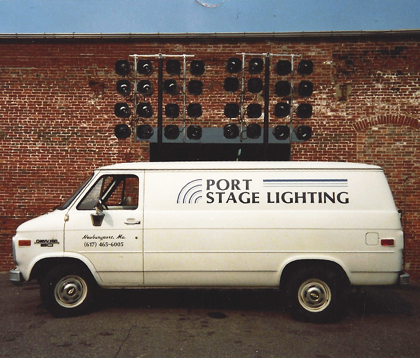 Circa 1985. One man. One van. One passion: lighting.
