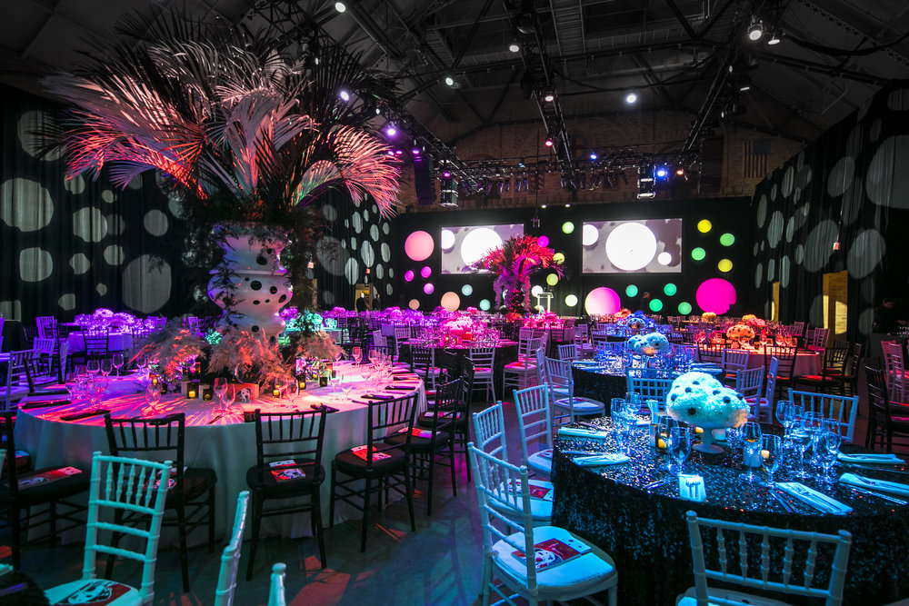 Rafanelli Events Port Lighting SYstems Black and White Table Colored Spotlights.jpg