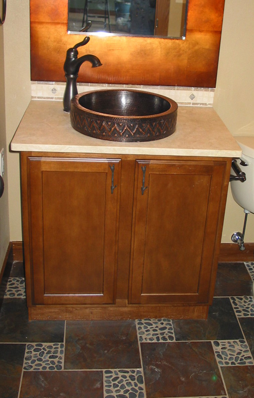 33 Ecclectic  Copper Vessel Sink in Rustic Home.jpg