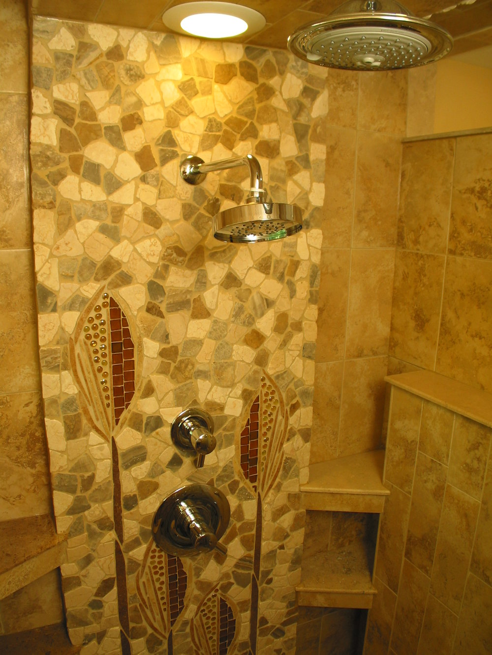 12 Original Tile Shower by Artist Kimberlee Rocca.JPG