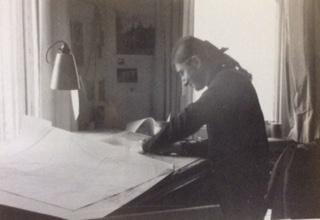 At work on my maps at The Ministry of Housing, London late 1960s