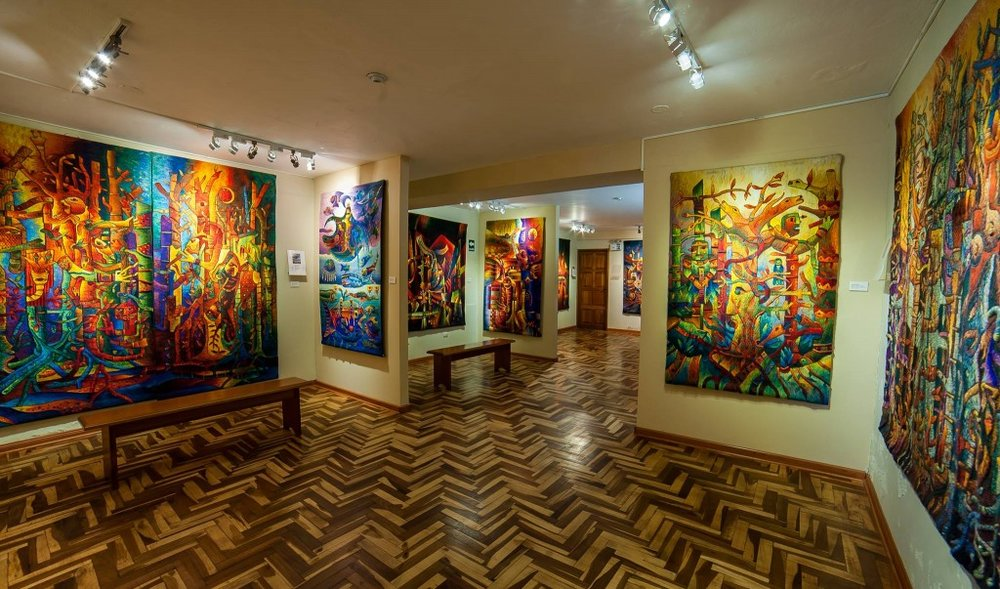 Visit Maximo Laura's Gallery - Be inspired by world-famous tapestry weaver, Maximo Laura's Gallery in Cusco. Maximo Laura was recently designated by the UN as one of Peru's Living Treasures. His work is the integration and synthesis of ancestral weaving techniques, symbols, memories, myths and rituals with contemporary art.