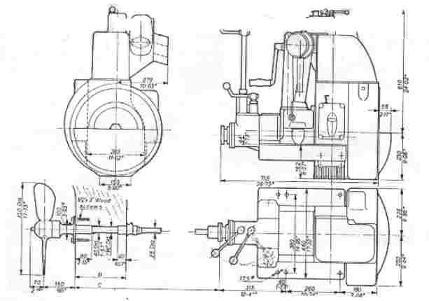 Motor i vores redningsbåd - Type: SAAB