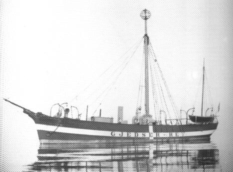 Fyrskib III, ca: år 1885 på Stationen Gedser Rev.Foto: Byhistorisk Arkiv, Esbjerg