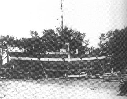 Fyrskib no: XIV på Rasmus Møller`s Værft.Foto: Fåborg Kulturhistoriske Museer.