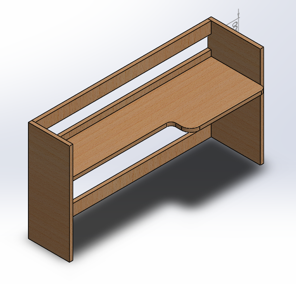 Solidworks Model of Shelf