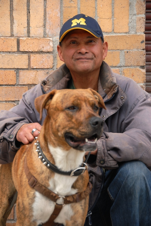 Alvaro and Max - SOS recently secured permanent, affordable housing in San Francisco for client, Alvaro, and constant canine comp-anion, Max. SOS also connected Alvaro with SFCCC member clinics for geriatric and dental care, while VET SOS provided free veterinary services to Max and coordinated his service animal licensing. After spending the last 20 years without a regular roof over his head, Alvaro can now be seen looking for furniture and artwork to decorate their new home. (Photo credit: Marlena Hartman-Filson)