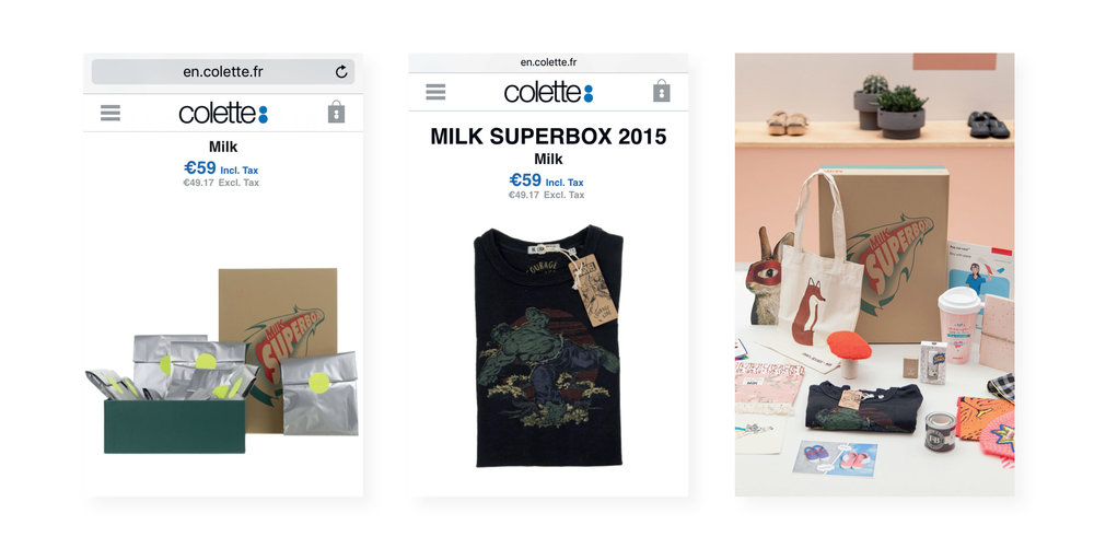 MILK BOX 2015 - Sold exclusively online and instore @Collette - Paris