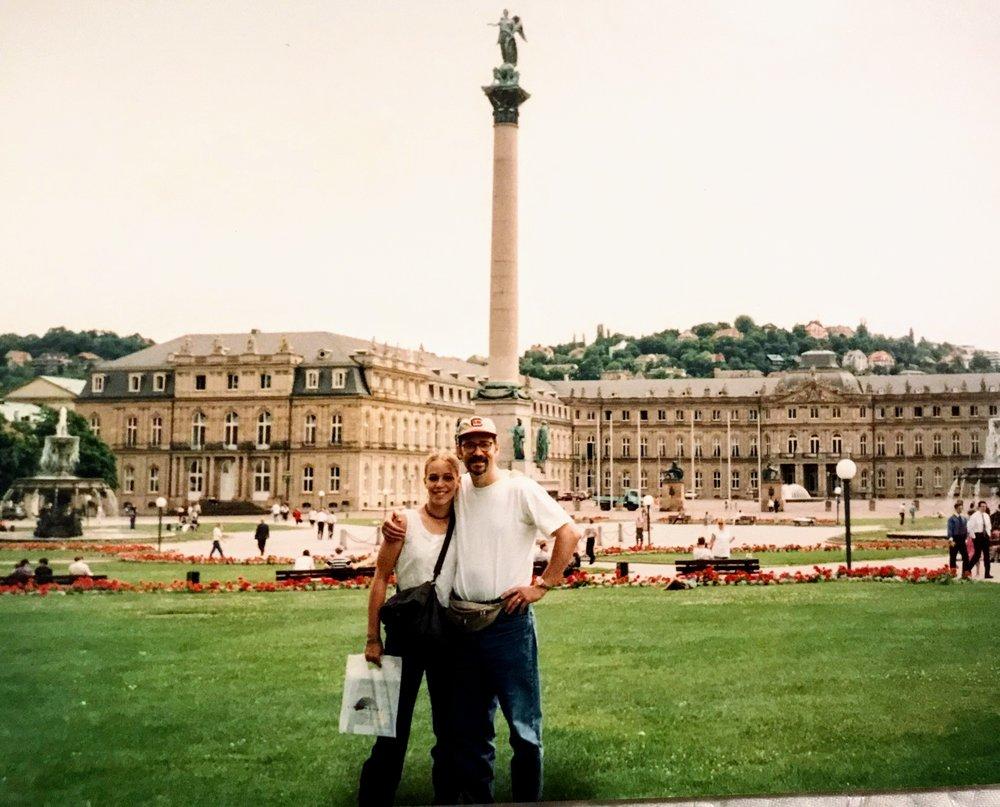 Just the two of us on a visit to Germany for a ministry trip back in the day