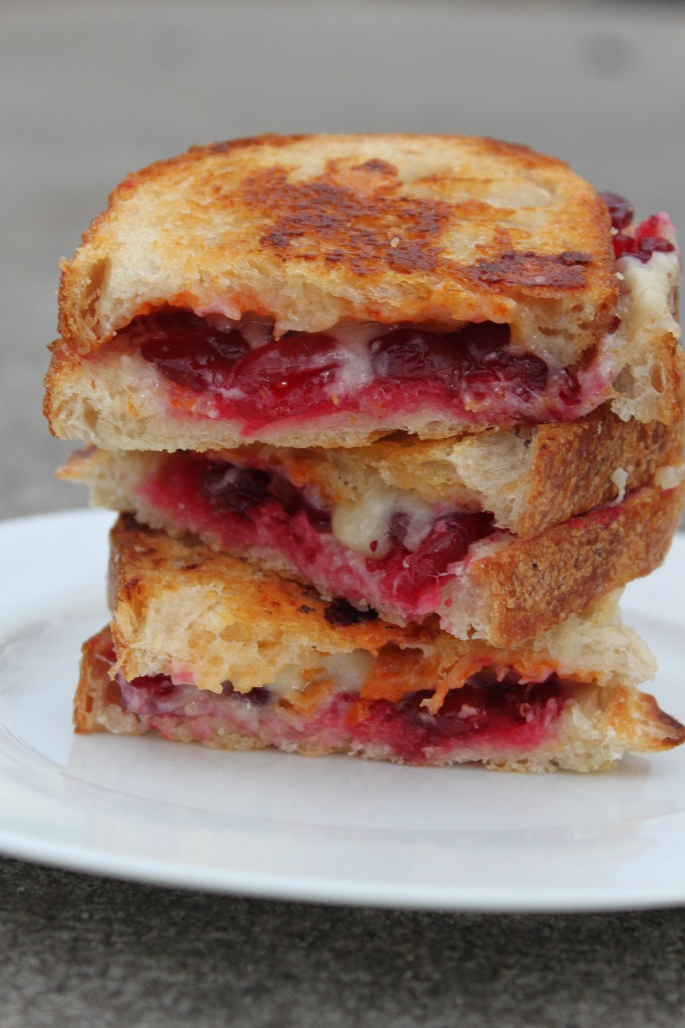 Cranberry Sriracha Grilled Cheese