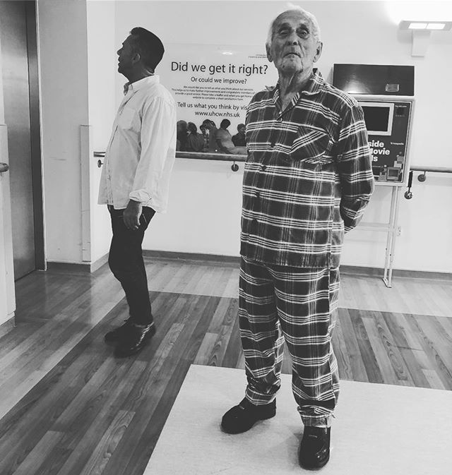 94 years this #Hungarian #hero has roamed the earth. #Rockport boots as standard, even with #PJs. Did we get it right? #HELLYEAH #poppa