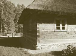 Dovetailed corner on Latvian house