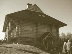 Classic Latvian style log home