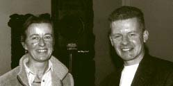 Jan Alexander (President Crann) meets Trevor Sargent TD (Greens).